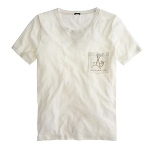 "J.Crew ""Living On The Edge"" Llama T-shirt - Fits S"